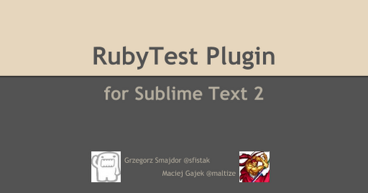 RubyTest Plugin for Sublime