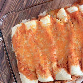 Easy Cheese Enchiladas Recipe with Rice.