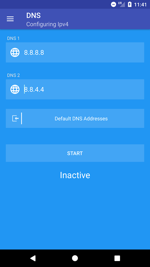 DNS Changer (No Root - IPv6 - All connections)- screenshot