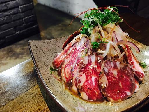 生牛肉.味增湯.菱角起司燒.培根麻糬.原味雞肉串.豬肉海老(豬肉包鮮蝦)