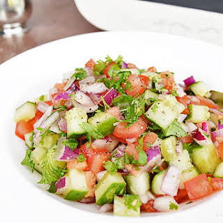 Salad Shirazi | Persian Cucumber, Tomato and Red Onion Salad.