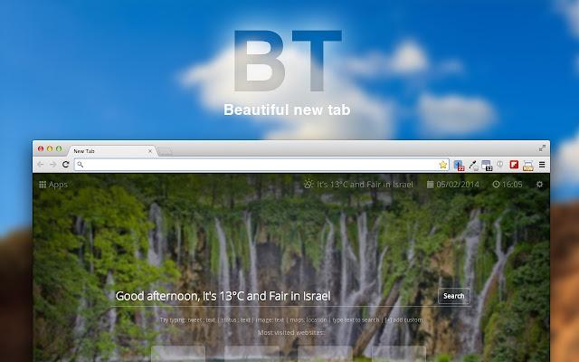 Beautiful new tab