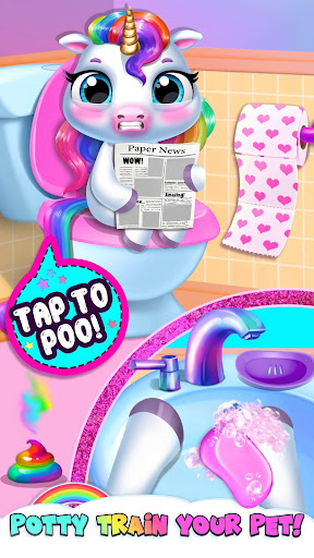 Download My Baby Unicorn - Virtual Pony Pet Care & Dress Up For PC 1