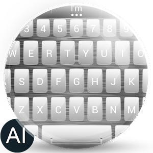 Theme for A.I.type Metal White for PC