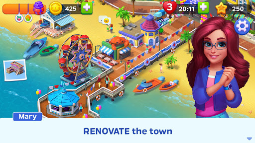 Match Town Makeover: Your town is your puzzle 1.4.501 screenshots 9