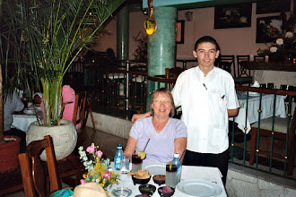 Photo: The headwaiter got to know us and suggested local dishes.
