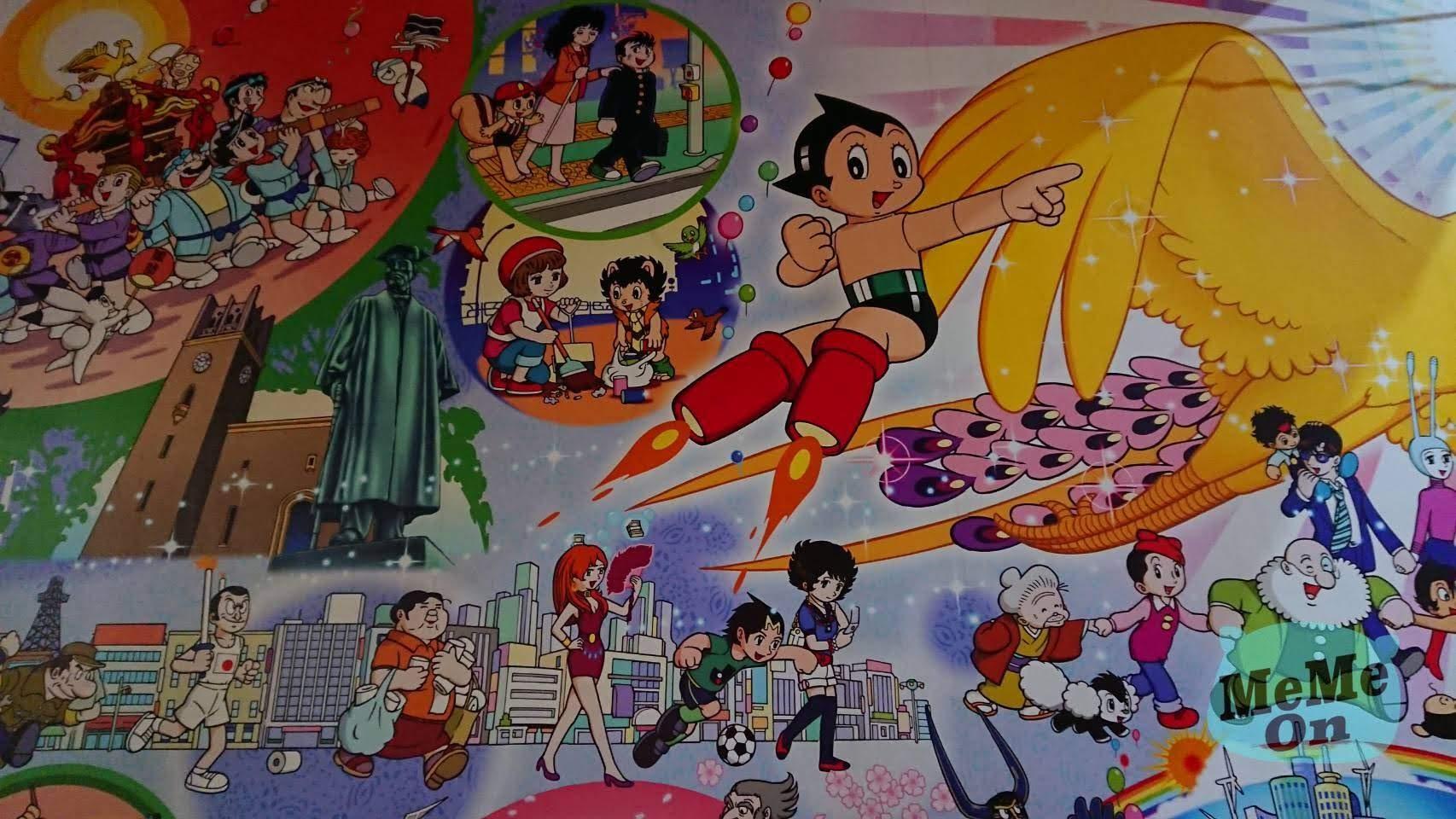原子小金剛  出生地 高田馬場 站 手塚治虫 大型紀念壁畫