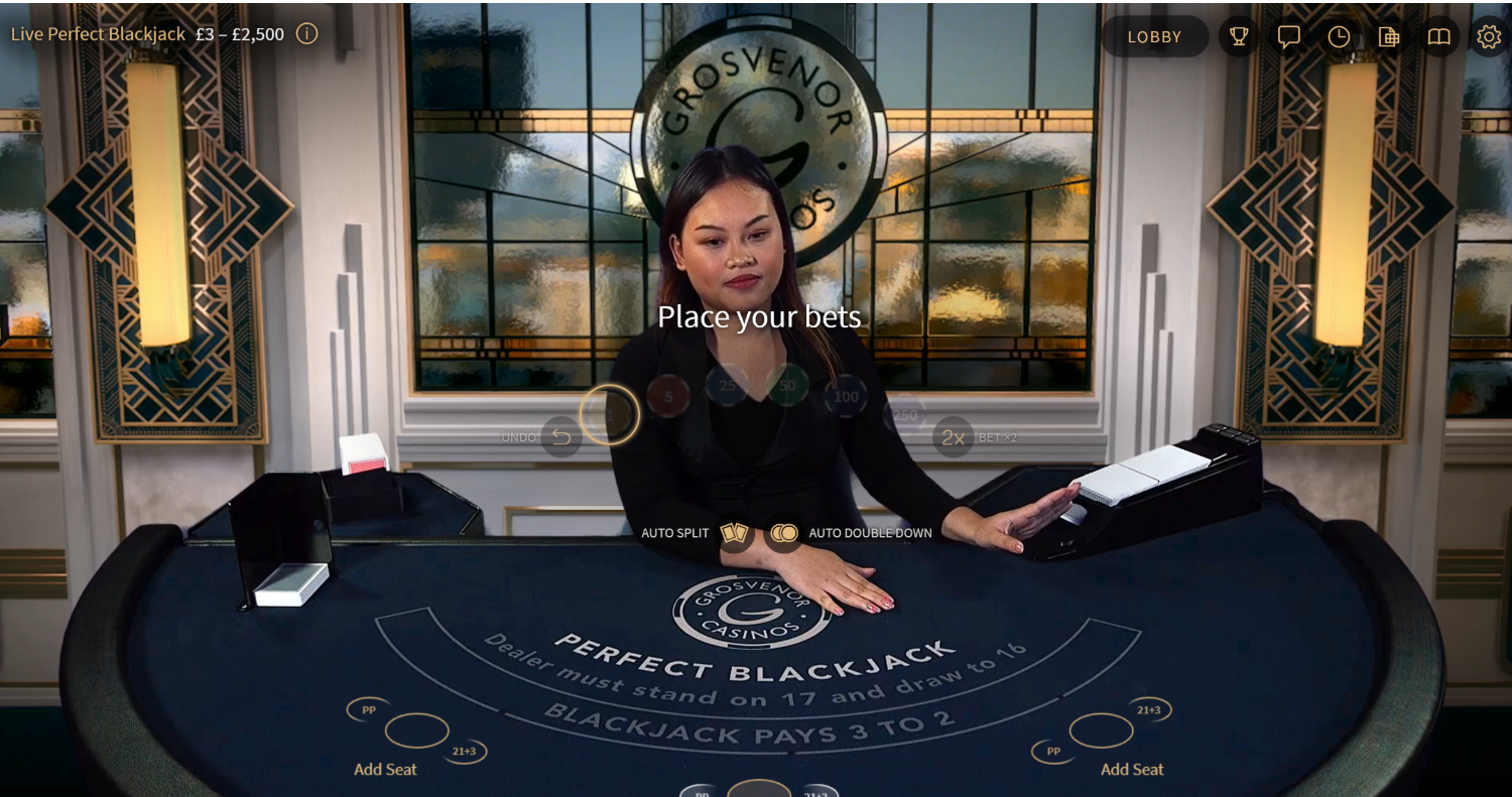 Perfect Blackjack is one of the best blackjack games you can play at Grosvenor Casinos