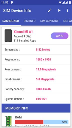 SIM Device Info ss1