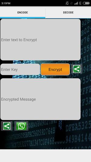 Enigma-Encrypt Decrypt app screenshot