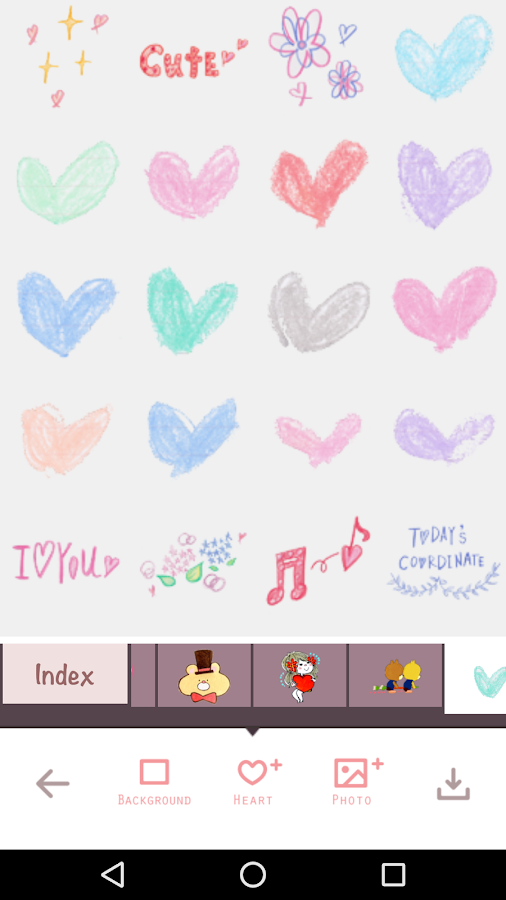 For heart stickers, My Heart Camera- screenshot