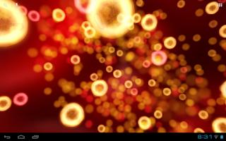 Screenshot of Neon Microcosm Live Wallpaper