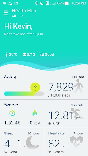 ASUS ZenFit 3.2.2.170904 Screenshots 1