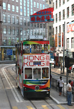 Photo: Day 195 - Double-Decker Tram on Queensway on HK Island