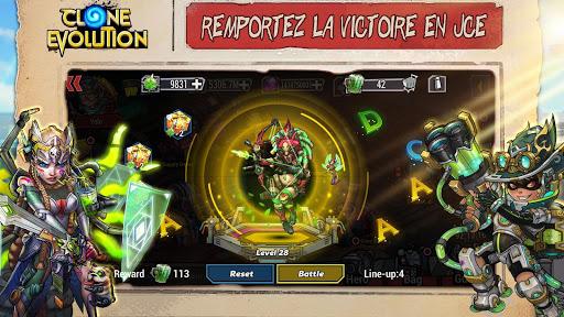 Télécharger Gratuit Clone Evolution: Bataille RPG-Combat futur Fantasy mod apk screenshots 3