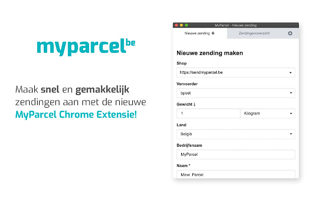 SendMyParcel Extension