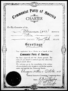 Faksimile: Charter for a local unit of the CPUSA dated October 24, 1919.