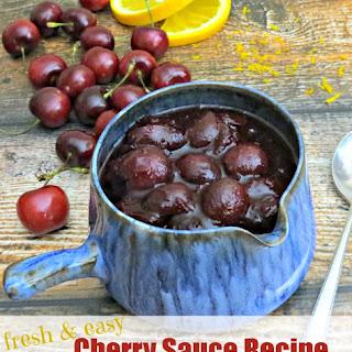 Fresh Cherry Sauce Recipe