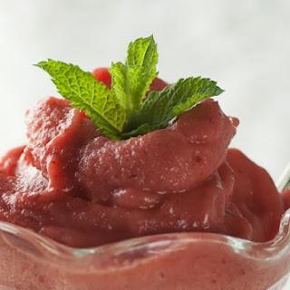 Strawberry Banana Sorbet.
