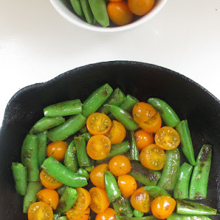 Snap Peas and Tomatoes with Tarragon