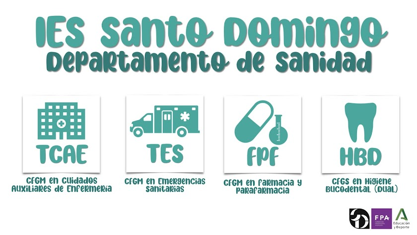 Oferta formativa del IES Santo Domingo en la rama sanitaria.