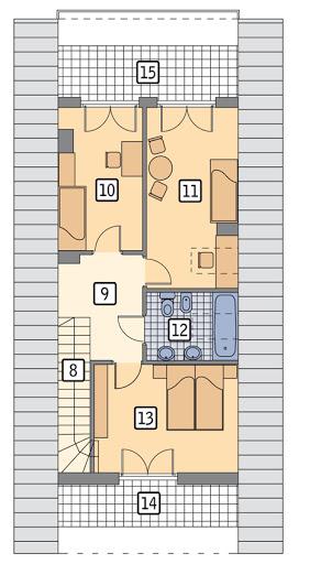 Szczupły - wariant II - C203b - Rzut poddasza