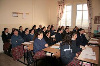 Photo: Classe de collège des soeurs de Saint-Joseph à Jérusalem