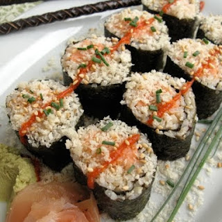 Spicy Crunchy Salmon Rolls Recipe