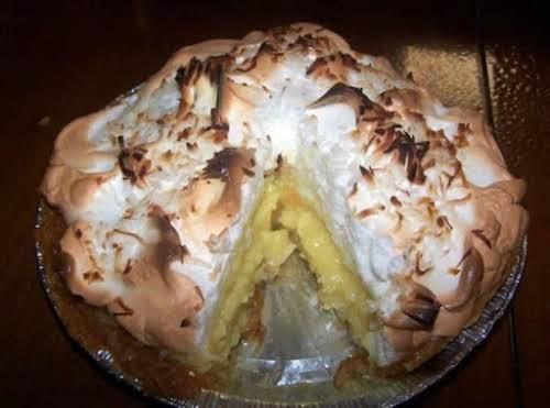 """Double-Coconut Cream Pie """"OMG! Coconut cream is my favorite pie. This recipe..."""