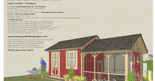 CB202 - Combo Chicken Coop Garden Shed Plans Construction_0818
