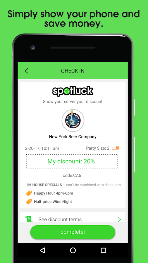 Spotluck – Spin. Eat. Save.- screenshot