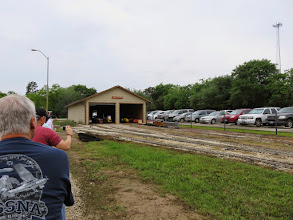 Photo: The car barn and parking lot from the conductor's seat.    HALS Public Run Day 2015-0418 RPW