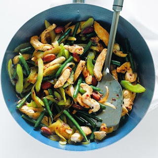 Chicken, Celery, Green Bean And Almond Stir-fry