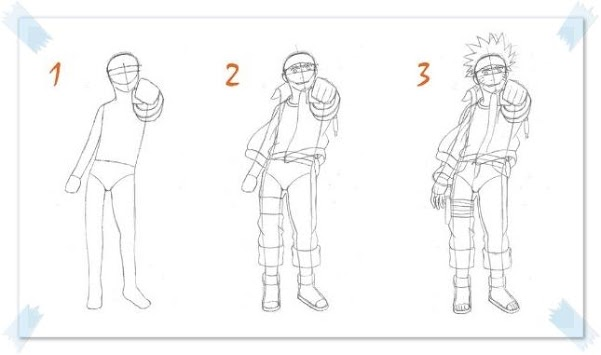 free anime drawings tutorial poster
