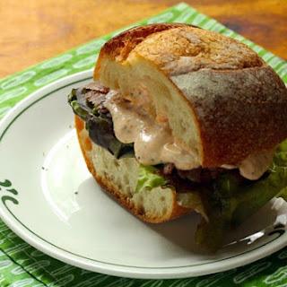 Steak Sandwich with Spicy Harissa-Lime Sauce Recipe