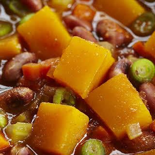 Pumpkin and Anasazi Bean Stew.