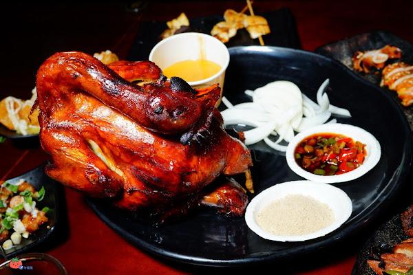 現烤噴汁啦!雞老闆藥膳烤雞「壽星消費免費吃桶仔雞」含菜單,手扒雞居酒屋宵夜