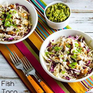 Fish Taco Cabbage Bowl.