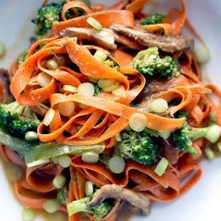 Spicy Thai Carrot Noodles.