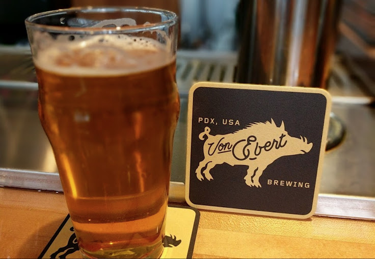A pint of beer at the boar-inspired Von Ebert. Photo: Nick Rivers.