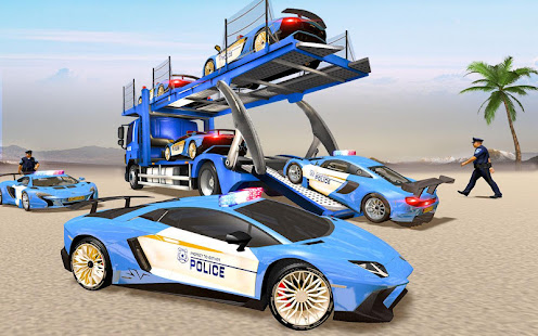 Download US Police Transporter Truck: Car Driving Games For PC Windows and Mac apk screenshot 4