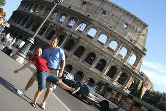 Photo: Chris and Katie outside the Colosseum