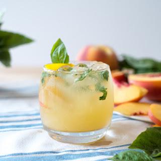 Peachy Tomato Basil Gin + Tonic.