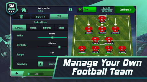 Soccer Manager 2020 - Top Football Management Game u0635u0648u0631 2