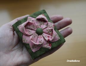 Photo: Игольница. Оригами из ткани. 7 см в готовом виде.