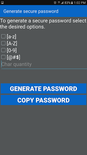Password Saver app for Android screenshot