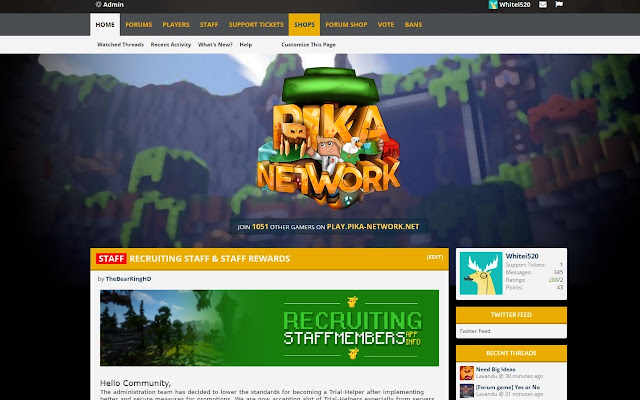Pika-Network Forum Alerts