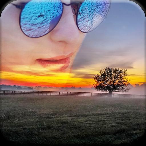 Nature Overlay Photo Blender: Wallpaper Maker App Icon