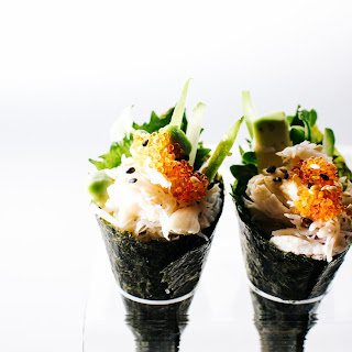 Mini California Sushi Cones.