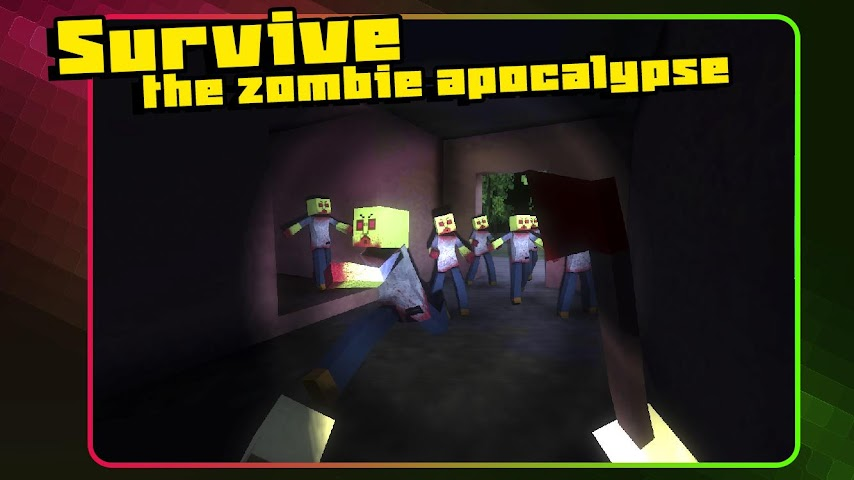 android Pixel Zombie Apocalypse Day 3D Screenshot 0